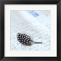 Plume Letters I Framed Print