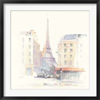 Paris Morning Square Framed Print
