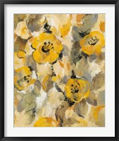 Yellow Floral I Framed Print