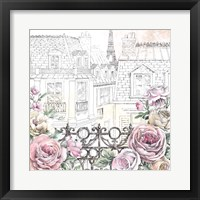 Framed Paris Roses II