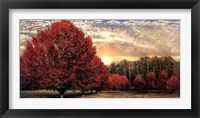 Framed Crimson Trees