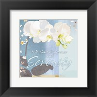 Framed Blue Floral Inspiration I