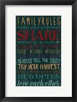 Spice Family Rules I Framed Print