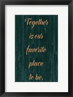 Spice Family Rules II Framed Print