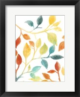 Spectrum Leaves II Framed Print