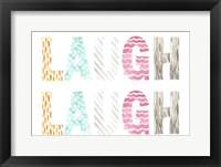 Pattern Sentiment II Framed Print