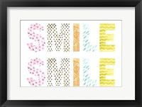 Pattern Sentiment III Framed Print