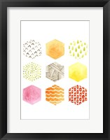 Honeycomb Patterns I Framed Print