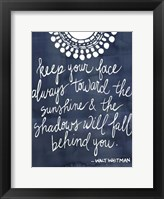 Sun Quote II Framed Print