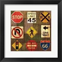 Framed Garage Sign IV