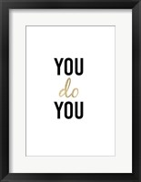 Golden Quote II Framed Print
