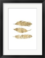 Golden Quote IV Framed Print