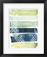 Aqua Streak II Framed Print