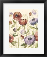 Jeweltoned Blossoms I Framed Print