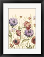 Jeweltoned Blossoms II Framed Print