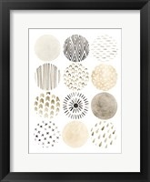 Neutral Pattern Play II Framed Print