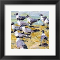 Sea Birds Watercolor I Framed Print