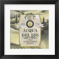 Olive Oil Labels I Framed Print