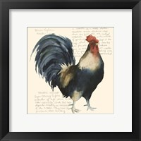 Rooster's Crow I Framed Print