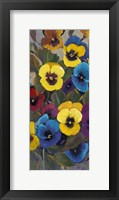 Framed Pansy Panel I