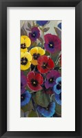 Framed Pansy Panel II