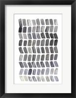 Watercolor Chevron I Framed Print