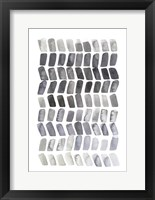 Watercolor Chevron II Framed Print