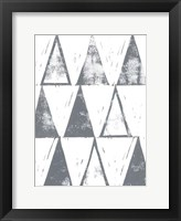 Triangle Block Print I Framed Print