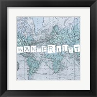 Map Words V Framed Print