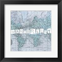 Framed Map Words V