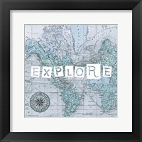 Map Words VI Framed Print