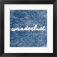 Map Words VII Framed Print