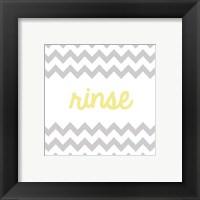 Rinse Framed Print