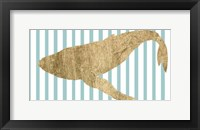 Framed Pin Stripe Whale II