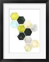 Hazed Honeycomb II Framed Print