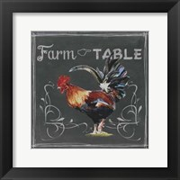 Framed Chalkboard Farm Animals III
