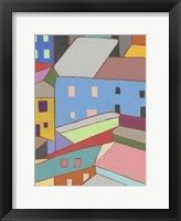 Rooftops in Color I Framed Print