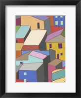Rooftops in Color II Framed Print