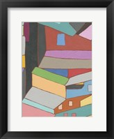 Rooftops in Color VI Framed Print
