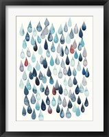 Watercolor Drops I Framed Print