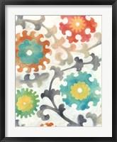 Batik Suzani I Framed Print