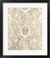 Baroque Tapestry in Gold I Framed Print