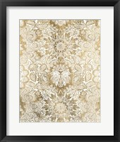 Baroque Tapestry in Gold II Framed Print