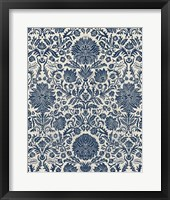 Baroque Tapestry in Navy I Framed Print