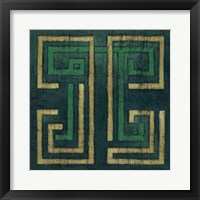 Emerald Diversion I Framed Print
