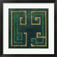 Emerald Diversion II Framed Print