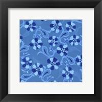 Framed Blue Paisley