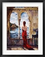 Framed Serene In Red