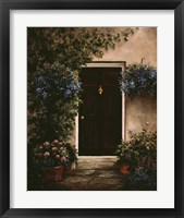 Framed Burgundy Door