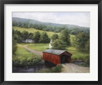 Framed Vermont Covered Bridge
